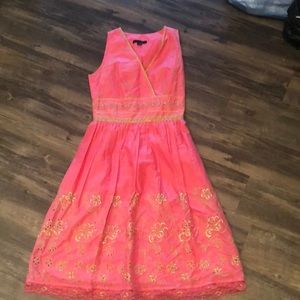 Pink and gold Easter dress